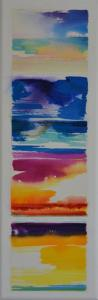 """""""Summer, Florida Time August 2015<br />48 x 16<br />$3,100"""