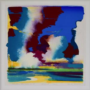Clouds, the  sun in 5<br /> 23 x 23<br /> $2,150