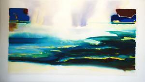 Blue Green Waters Purple Skies, Paradise<br />54x92<br />$11,400