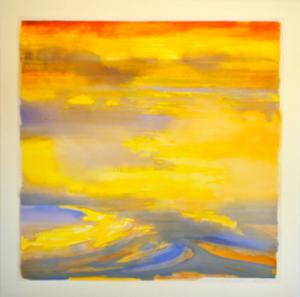 'Quiet Times' Series [Light Yellow Border]<br />78x78<br />$12,200