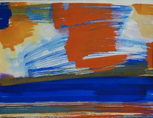 """#4 Watercolor<br /> 20""""x24""""<br /> $1300"""