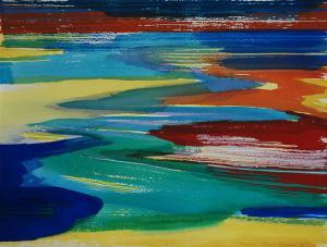 """#8 Watercolor<br /> 20""""x24""""<br /> $1300"""
