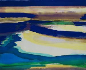 """#12 Watercolor<br /> 20""""x24""""<br /> $1300"""