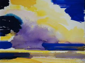 """#13 Watercolor<br /> 20""""x24""""<br /> $1300"""