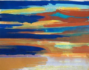 """#18 Watercolor<br /> 20""""x24""""<br /> $1300"""